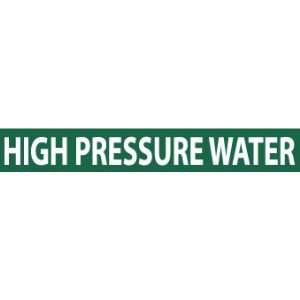 PIPEMARKER, HIGH PRESSURE WATER, 2X14, 1 1/4 LETTER, PS