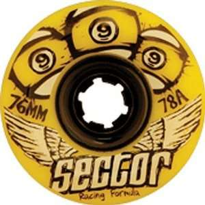 Sector 9 Race 78a 76mm Yellow Skate Wheels