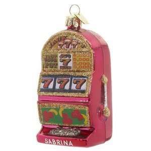 Personalized Slot Machine Christmas Ornament
