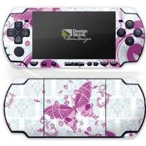Design Skins for Sony PSP   Pink Butterfly Design Folie