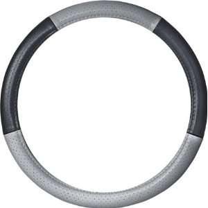 Grey Perforated Steering Wheel Cover Automotive