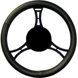 48311 Checkered Pattern Fat Boy Steering Wheel Cover Automotive