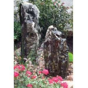 Stone Basalt Fountain Small 24 ft High: Patio, Lawn
