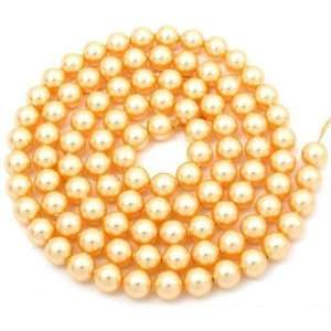 Gold Tone Swarovski Crystal Pearl Beads Jewelry 6mm
