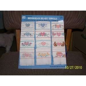 Monogram Heart Towels(counted cross stitch designs for