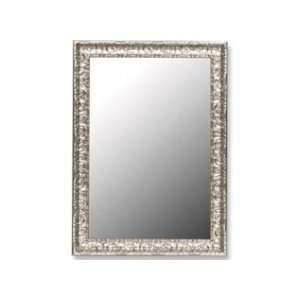 Ready to Hang Wall Mirror With an Antique Myan Silver Finish.