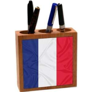 com Rikki KnightTM France Flag 5 Inch Tile Maple Finished Wooden Tile