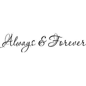 Always and Forever Vinyl Wall Art Decal