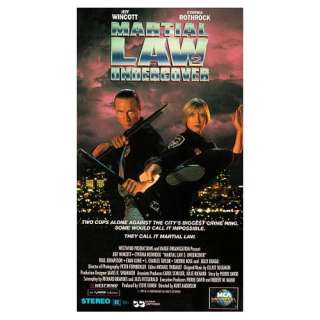 Martial Law II Undercover [VHS] Cynthia Rothrock, Jeff