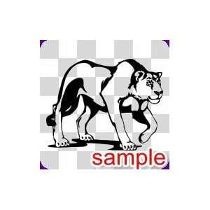 ANIMALS LIONESS 10 WHITE VINYL DECAL STICKER Everything