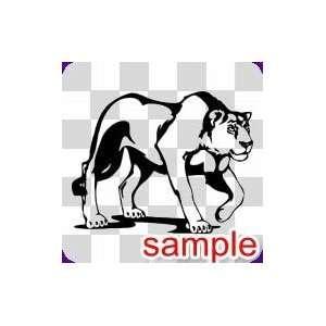 ANIMALS LIONESS 10 WHITE VINYL DECAL STICKER Everything