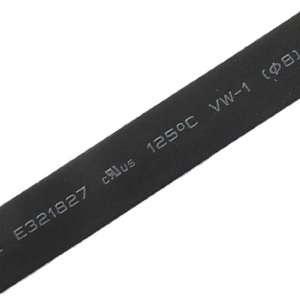 Amico Black 8mm Heat Shrinkable Tube Shrinking Tubing 6M
