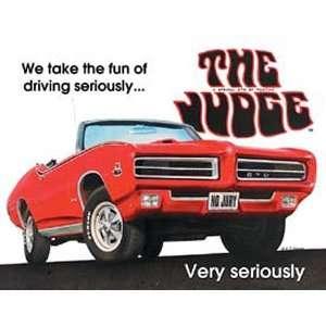 Pontiac Metal Tin Sign GTO The Judge