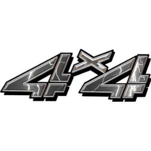 Full Color 4x4 Truck Decals in Lightning Gray: Automotive