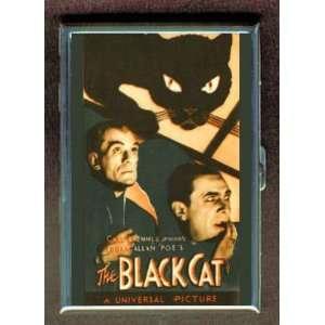 BLACK CAT BORIS KARLOFF BELA LUGOSI ID Holder Cigarette Case Wallet