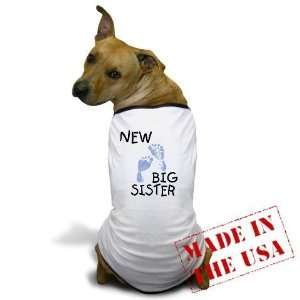 New Big Sister blue Big sister Dog T Shirt by CafePress
