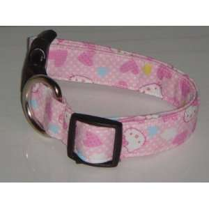 Hello Kitty Heart Pink Dog Collar Small 1 Everything