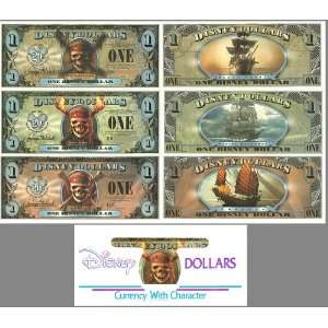 50th Anniversary Disney Dollar RARE! PIRATES OF THE CARRIBEAN