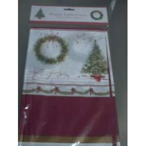 Plastic Christmas Tree Table Cover 120cm x 180cm Kitchen