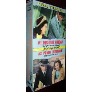 His Girl Friday/Penny Serenade [VHS] Cary Grant Movies