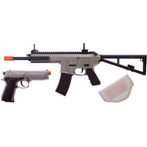 Marine Corps Airsoft Rifle and Pistol Combo Kit:
