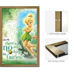 Gold Framed Tinker Bell Poster Myth No Fairies Tinkerbell
