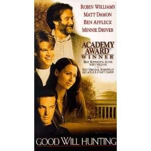 Good Will Hunting [VHS] Robin Williams, Matt Damon, Ben