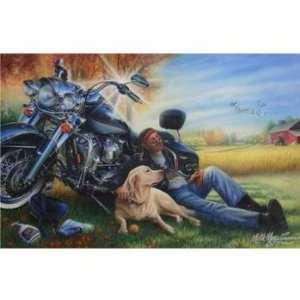 Marc Lacourciere MANS BEST FRIEND Motorcycle Dog