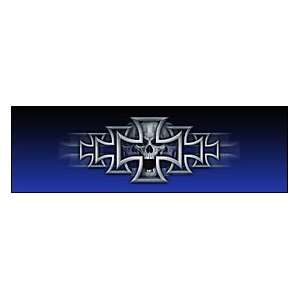 Iron Cross Blue Rear Window Graphic