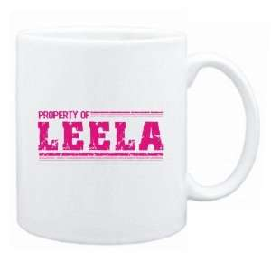 New  Property Of Leela Retro  Mug Name