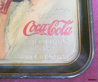 Authentic Antique 1912 Hamilton King Coca Cola Tray