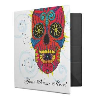 Day of The Dead Sugar Skull Tattoo Design Binders from Zazzle