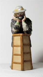 Emmett Kelly Jr. Clown Porcelain Figurine Miniature Collection Signed