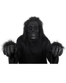 Halloween Costumes / Black Ape Mask with Hands