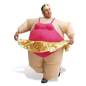 Inflatable Ballerina Fat Suit Fancy Dress Costume Suit Outfit