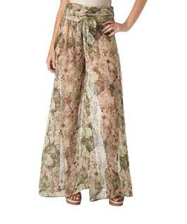 Brown Pattern (Brown) 18 And East Floral Palazzo Trousers  232594329