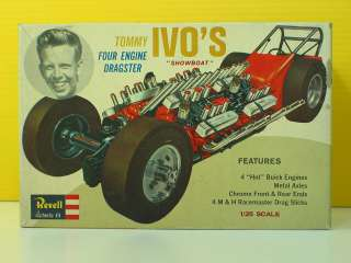 REVELL Tommy Ivo SHOWBOAT 4 Engine DRAGSTER Model Kit