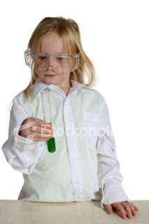young girl scientist 5 Royalty Free Stock Photo
