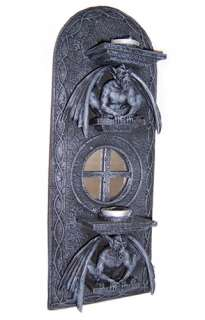 Gothic Gargoyle Demon Monster Wall Candle Holder NEW