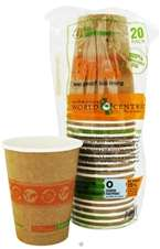 World Centric   Compostable Paper Cups 12 oz.   20 Count Leak Proof