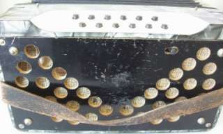 Vintage 25 Key 12 Button Hohner Accordion Accordian w/ Case