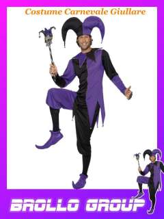 Costume Carnevale Adulto Giullare Travestimento Jolly Tg M# 9909