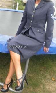 NEW MILITARY Womens Royal Air Force Dress Uniform NO1 no.1 Skirt RAF