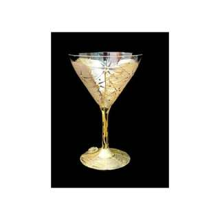 Bellissimo Angel Wings Design Hand Painted Martini glass
