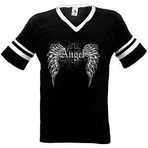 Angel Wings Cross Faith And Religious Ringer T shirt