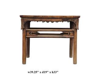 Vintage Chinese Carved Side Altar Console Table ss785A
