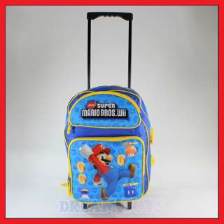 16 Super Mario Bros Coins Roller Backpack   Rolling
