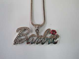 Nicki Minaj Silver Barbie Pendant+Necklace