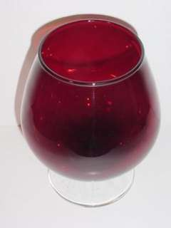 MUSEUM ALERT ANCHOR HOCKING ROYAL RUBY BRANDY SNIFTER