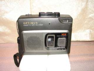 Optimus CTR 115 Voice Activated Cassette Tape Recorder